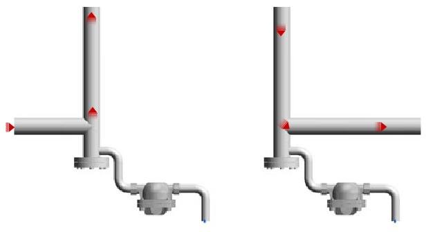 установка конденсатоотводчиков внизу трубы
